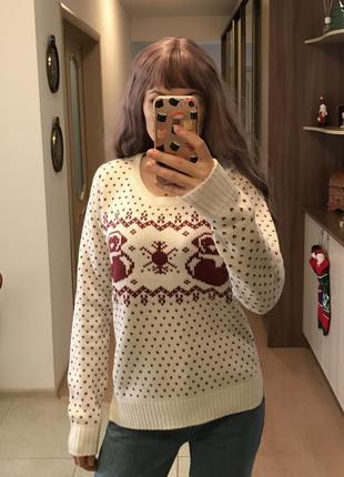 Джемпер свитер жаккард узор