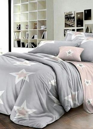 Хлопковое постельное белье звёзды двуспальный размер