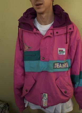 Винтажная стильная куртка анорак