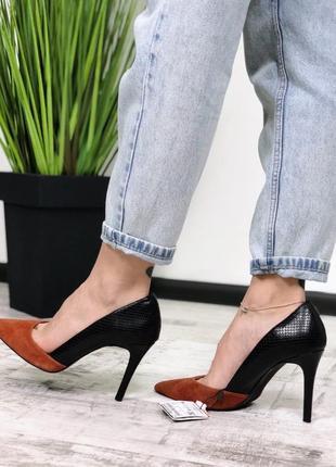Туфли лодочки натуральная кожа кожаные zara