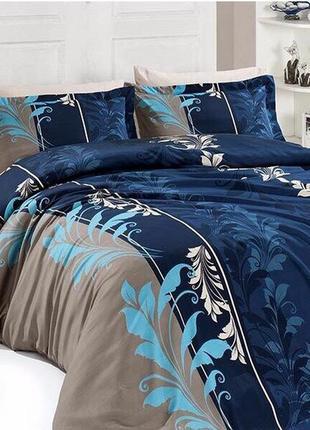 Хлопковое постельное белье рандеву синий, все размеры
