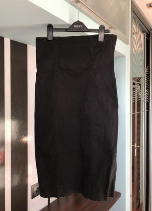 Высокая юбка-карандаш на молнии miss sixty