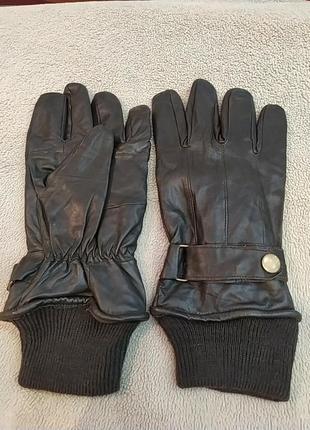 Классные  кожаные мягусенькие мужские перчатки