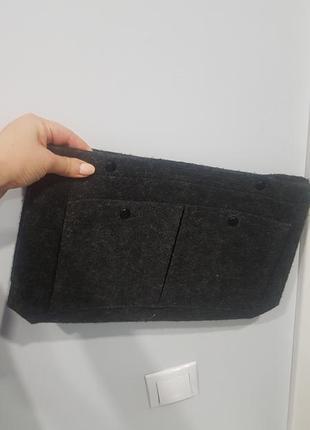 Клатч из фетра, сумка, темно серый