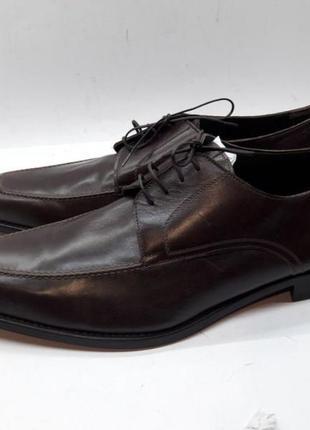 Мужские коричневые кожаные деловые туфли ручной работы a.testoni 44.5 10.5 оригинал