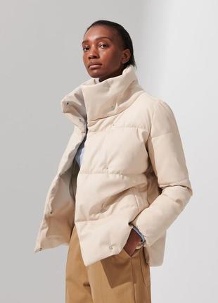 Утепленная куртка из эко кожи xs