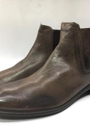 Мужские кожаные коричневые ботинки  челси strellson 44 оригинал