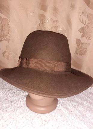 Фетровая шляпка р.54,55.