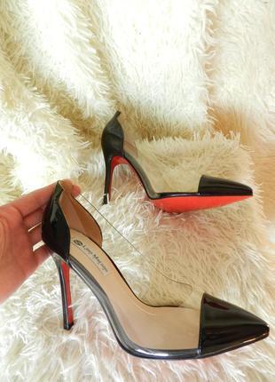 ✅ красивые лодочки туфли прозрачные