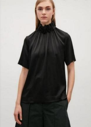 Плотная сатиновая блуза cos