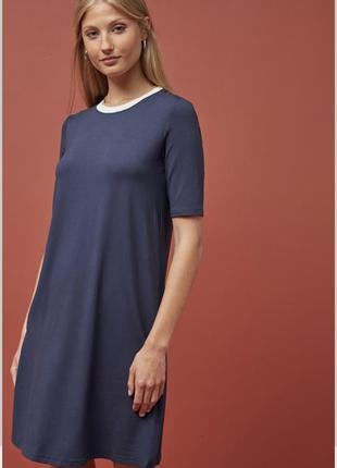 Стильное трикотажное платье- футболка s/m. англия 🏴