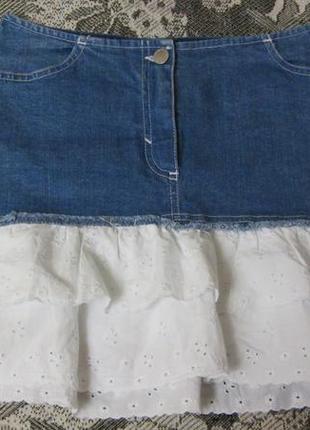 Итальянская джинсовая юбка
