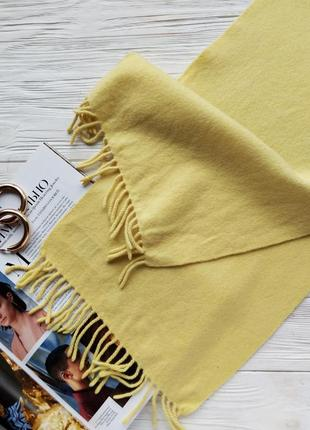 Жёлтый кашемировый 100% кашемир шарф шарфик pringle of scotland