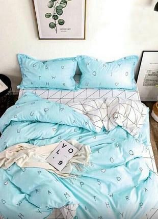 Сатиновое полуторное хлопковое постельное белье