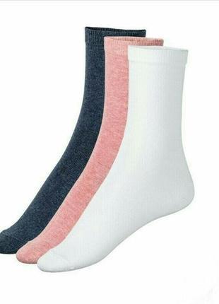 Комплект 3 пары носков esmara! размер 35-38 и 39-42