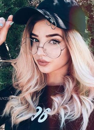 Новые имиджевые круглые очки в серебристой оправе  гарри поттера іміджеві круглі окуляри