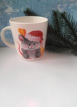 Чашка ручная роспись