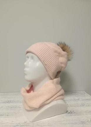 Комплект жіночий шапка+бафф даяна