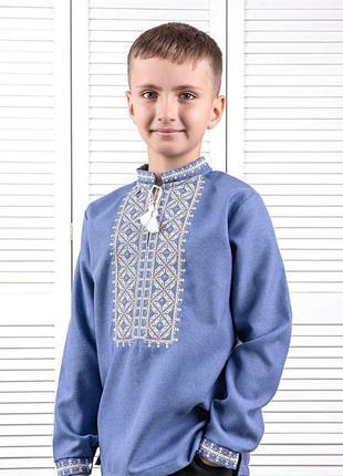 Детская вышиванка, рубашка для мальчика, 92-164рр.