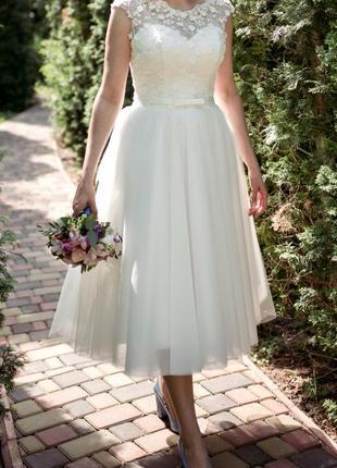 Свадебное платье короткое / весільна сукня коротка