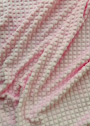 """Покрывало """"кубик"""", 200*220 см, нежно-розовое"""