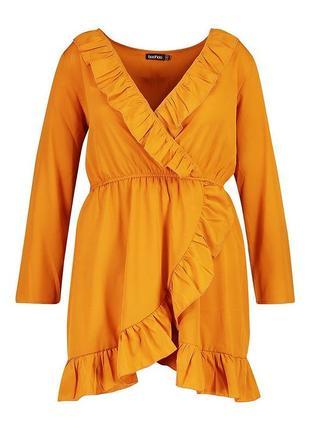Легкое солнечное платье от boohoo, размер 46-48