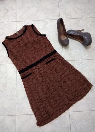 Красивое ажурное теплое платье next, сост. отличное. размер 14. сток!