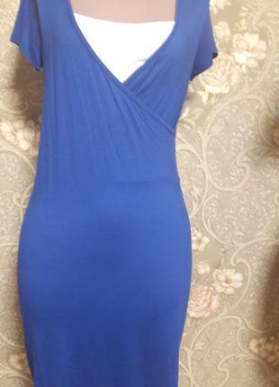 Трикотажное платье для кормящих мамочек