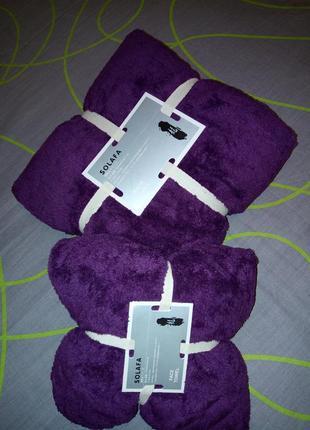 Комплект набор полотенец сауна+лицевое турция