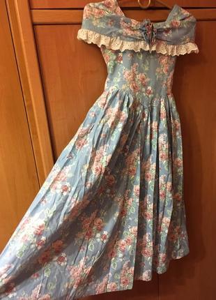 Винтажное платье для принцессы хлопок бальное пышное
