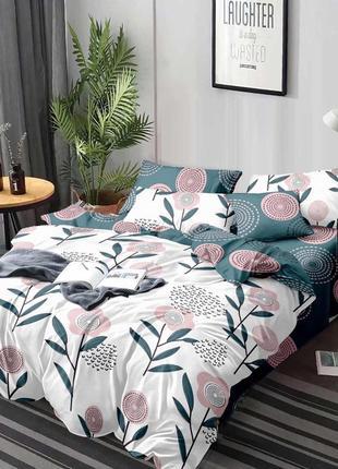 Комплект постельного белья сатин комплект постільної білизни одуваны
