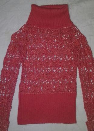 Красивая ажурная кофта, свитерок
