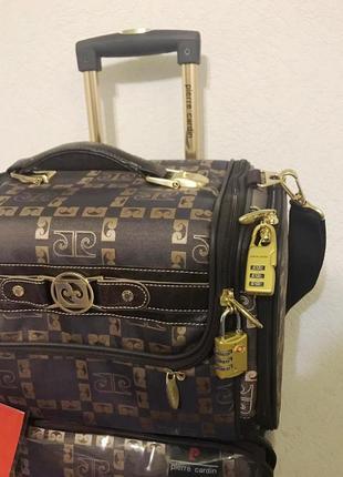 Чемодан с сумкой pierre cardin