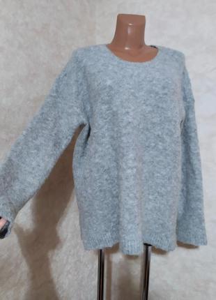 Объемный свитер от , uniqlo, шерсть ламы, l-xl
