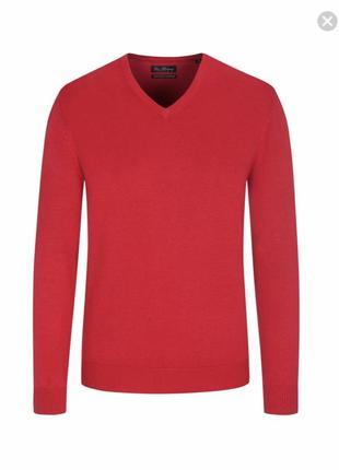 Пуловер шерсть мериноса и кашемир дорогой бренд tom rusborg размер м