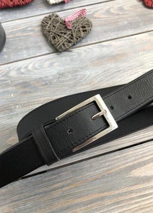 Walbusch кожаный мужской ремень, серебряная пряжка пояс