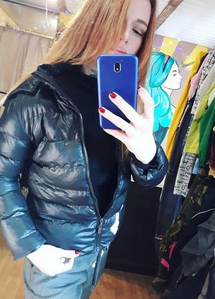 Дутая деми куртка moncler