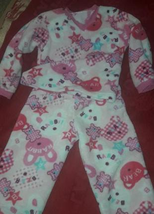Теплая детская пижама для девочки