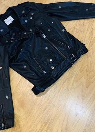 Куртка- косуха с заклепками из натуральной кожи. 40 р. м-l