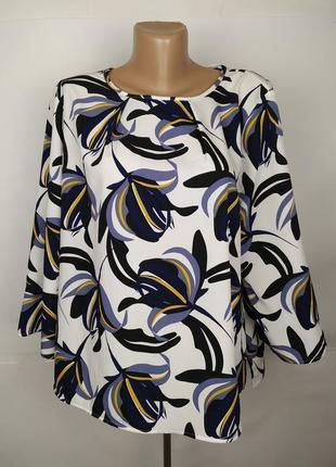 Блуза красивенная в принт большого размера marks&spencer uk 22/50/4xl