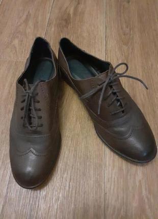 Кожаные туфли оксфорды- броги footglove.