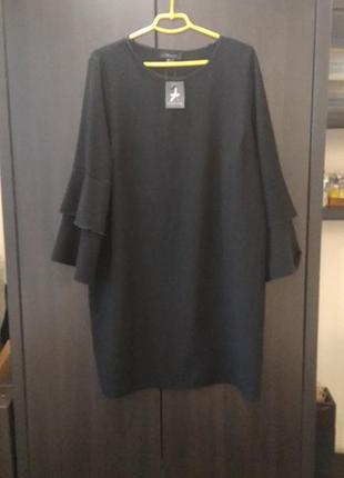 Платье с волонами- оборками большой размер