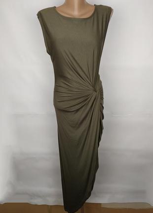 Платье новое шикарное эластичное по фигуре а-симметричное h&m uk 16/44/xl