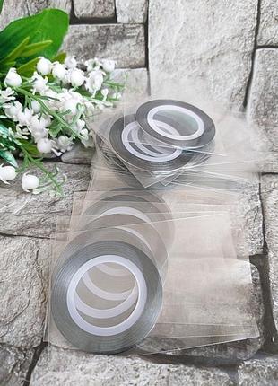 Декор лента серебро