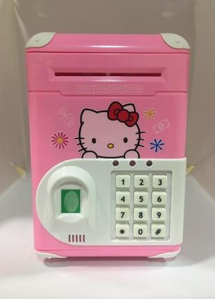 Электронный сейф копилка с кодовым замком hello kitty