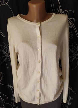 Масляный свитер джемпер на пуговки вискоза шерсть