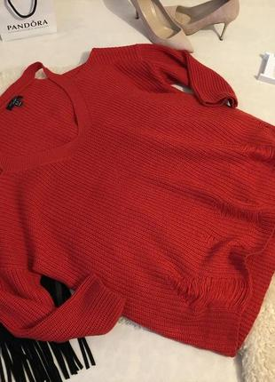 Самый крутой трендовый свитер блуза с открытыми плечами и рукавом 3/4 💄❤️💋