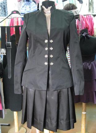 Элегантный чёрный пиджак romstyle (украина)