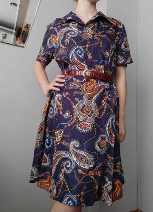 Вінтаж винтаж плаття платье принт пейсли