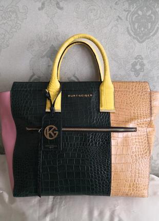 Мега красивая статусная большая сумка kurt geiger, london